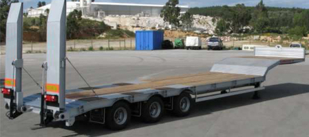 Different types of Low-Bed Trailers  High quality and