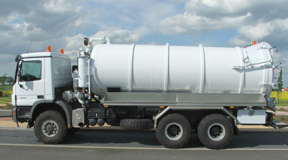 In Germany specially manufactured vac trucks for off-road and oil-field application.
