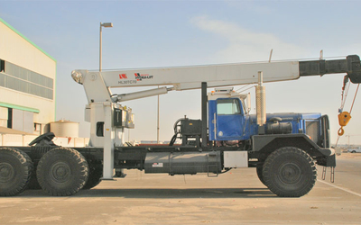 The most popular truck mounted crane on oilfields