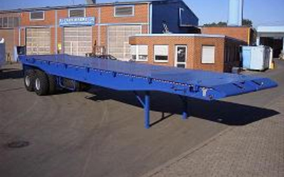 2-axles Oil field bed semi-trailer, 65 ton. RAC-Germany