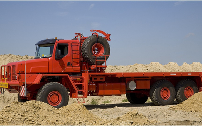 Oil Field Bedtruck with Braden winch. Custom-made. RAC-Germany