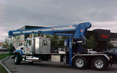 23 to. truck mounted hydraulic crane. RAC-Germany.