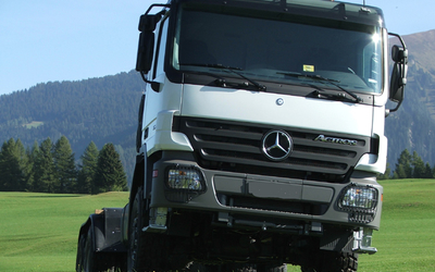 Brand new Mercedes-Benz truck chassis. RAC-Germany