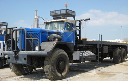 Rebuild hood and fenders on oil field truck KW 953A