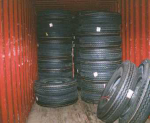 Loading Bridgestone tires
